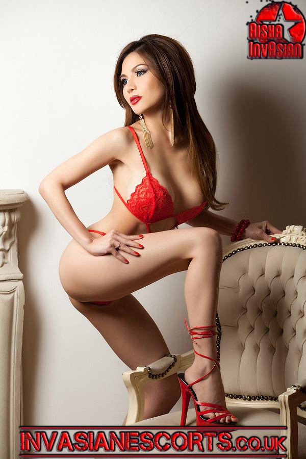 Sexy escort Hanna in red